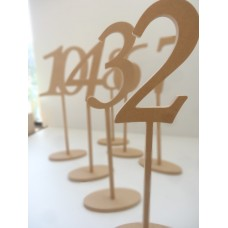 INDIVIDUAL  Long Stem table numbers with base