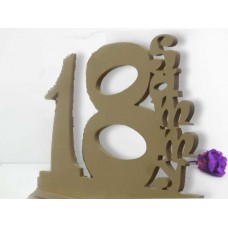 Signature Birthday Signs unpainted or WHITE