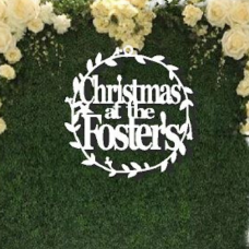 Extra Large Christmas  hoops sign