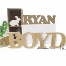 Free standing  15 CM -25 CM All Upper Case Words/Names Joined
