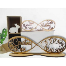 MDF Personalised Infinity Shape Family tree