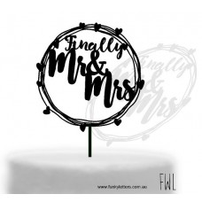 Finally Mr&Mrs hoop sign Cake topper