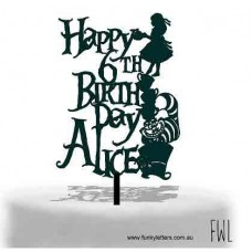 Alice in wonderland Themed cake topper