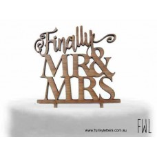 Finally  Mr&Mrs Cake topper