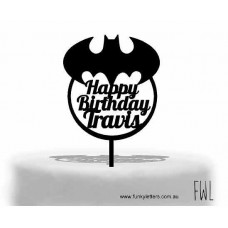 Batman in wreath Cake topper