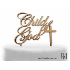 Child of God cake topper