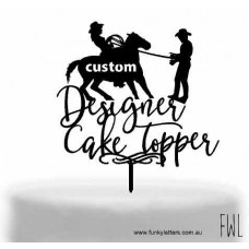 Custom designed Cake topper