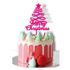 Christmas tree cake topper Merry christmas