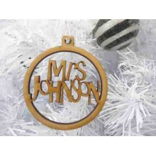 Christmas bauble / star decoration Personalised Wooden