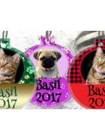Christmas  Baubles for your Pet  Personalised with photo