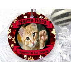 Christmas Baubles Cat Memorial