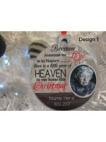 Christmas  Baubles Breveament,  Personalised with photo