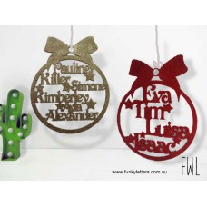 Family Baubles for the tree