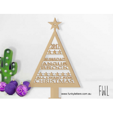 Contemporary Christmas trees Personalised