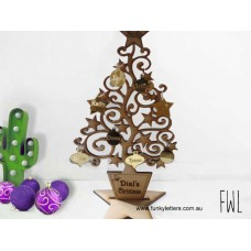 Christmas Tree with personalised baubles