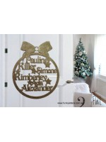 Christmas Family wreath MDF