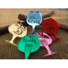 Wine charms Personalised priced per item