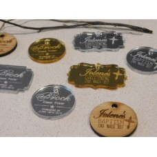 Christening / Baptism Gift tags favours
