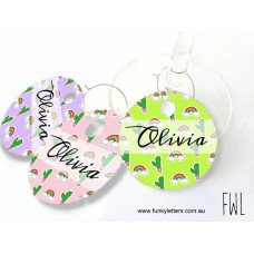 Wine charms gift tags for wedding  Aluminium