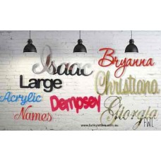 15 cm - 30 cm tall  JOINED ACRYLIC Names/ words for Hanging