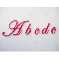 ACRYLIC LETTERS SINGLE letter/s numbers, 3cm -20cm