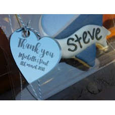 Large wedding Acrylic Personalised  tags for Jars/ favours