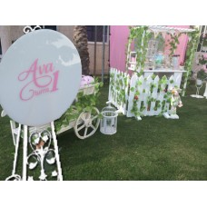 Custom Event Announcement Signs White