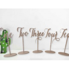 Individual Long Stem Scripted Word Table Numbers