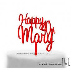 Birthday Cake Topper 2 lines With Age