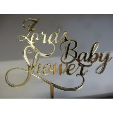 Baby shower cake topper decorative