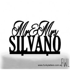 Mr&Mrs Over Block letters