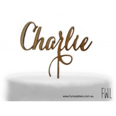 1 line Personalised Cake Topper