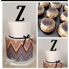 Single Letter Cake toppers