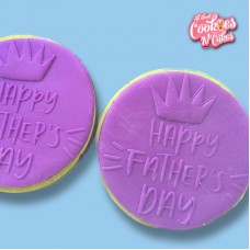 Happy Fathers day Crown  | The Cookie Debosser ™