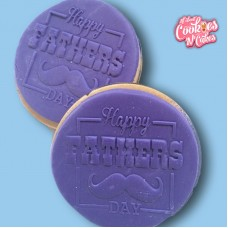 Happy Fathers day MOustache  | The Cookie Debosser ™