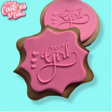 Its a girl hearts | The Cookie Debosser ™