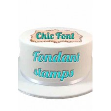 Fondant stamps Chic sets
