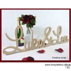 Free standing Wedding Names with & or Heart UNPAINTED