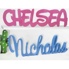 Kids Wooden Free standing Names Or words Painted
