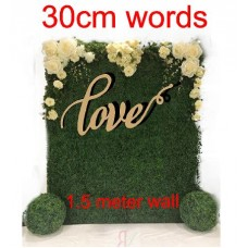 Generic wedding Words for Large floral walls and back drops