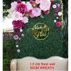 Extra Large ACRYLIC Wreath for floral Backdrop