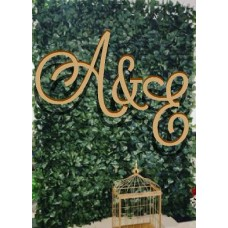 MDF 3 piece set of initials Capital Letters Hanging 6 mm