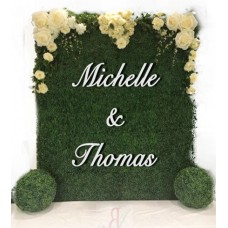White Oversized floral wall  Signs
