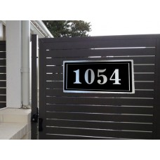 Brushed aluminium House Sign NewsBlock design 4 size available ***free shipping ******