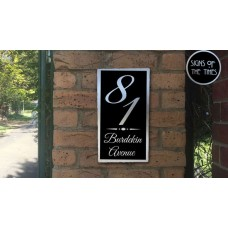 Brushed aluminium House Sign Burdekin design 3 sizes available ***free shipping ******