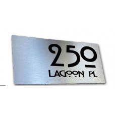 Brushed aluminium House Sign Lagoon design 4 size available ***free shipping ******