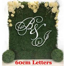 White 3 piece set of initials Capital Letters Hanging 6 mm