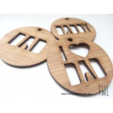Bamboo Key rings personalised