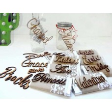 Laser Cut Small Names Words