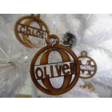 Christmas Baubles Monogram style